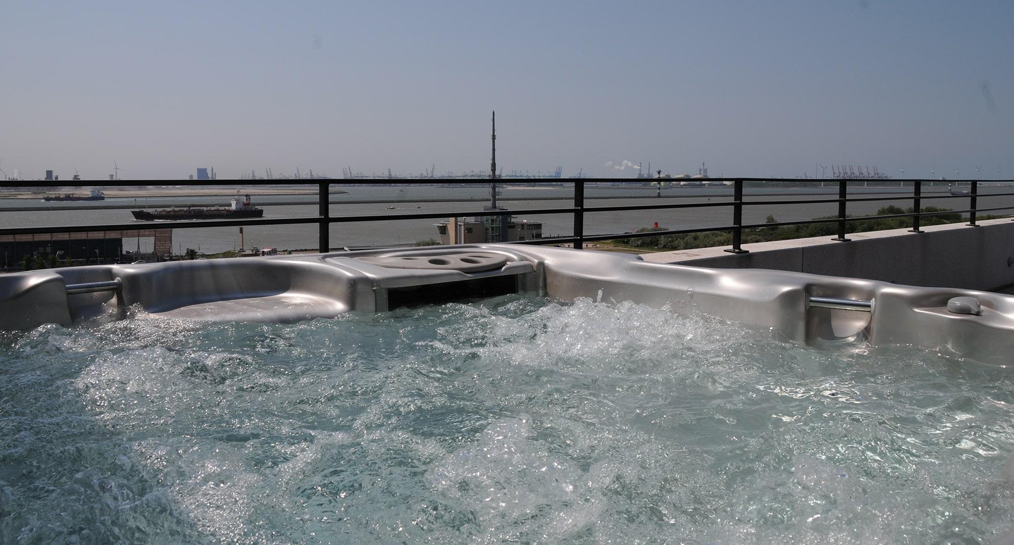 Sundance Spas install water view