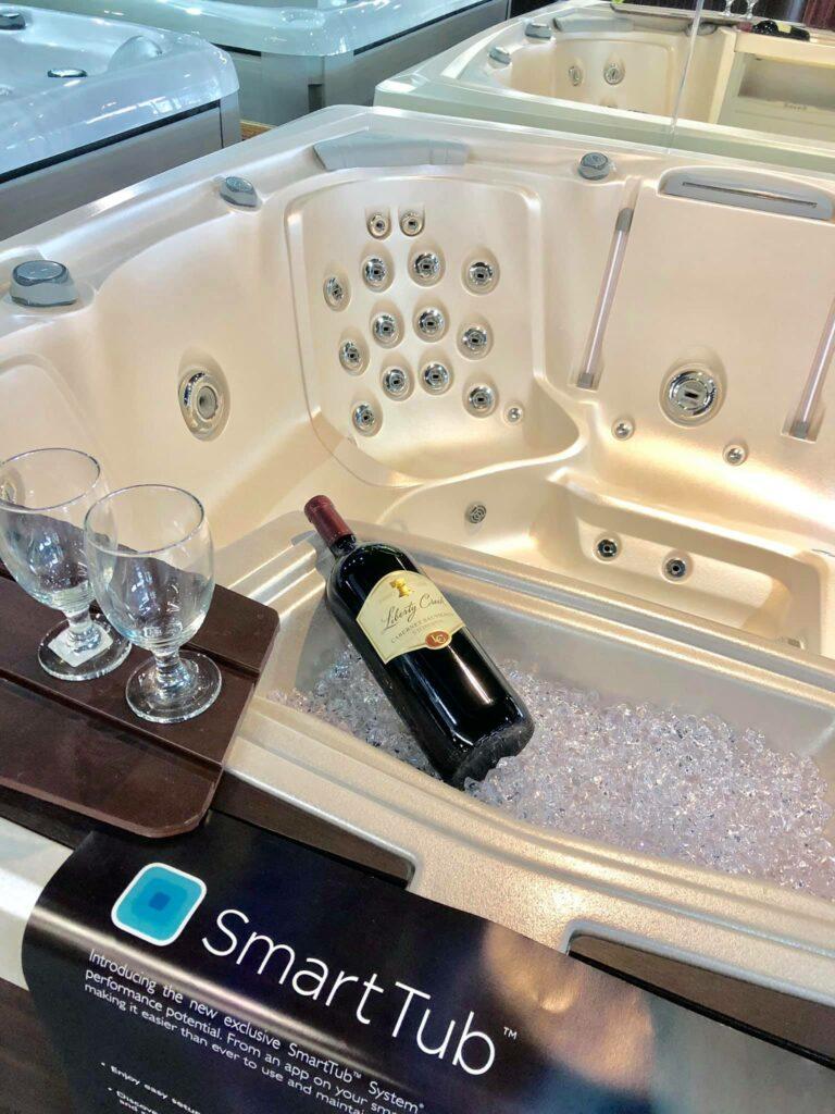 Hot tub display in Springfield MO