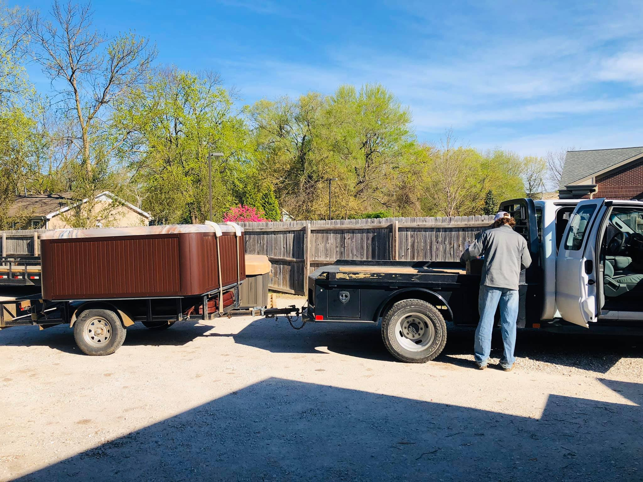 Hot tub delivery and Installation in Springfield MO