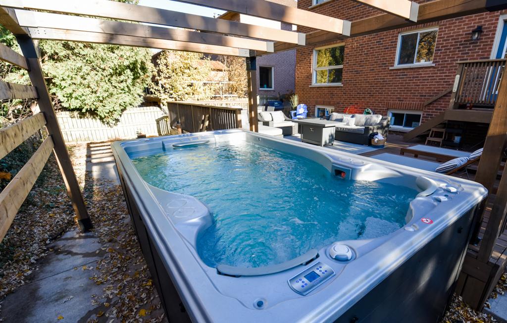 swimlife swim spa under gazebo